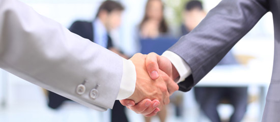 Ръкостискане Бизнес